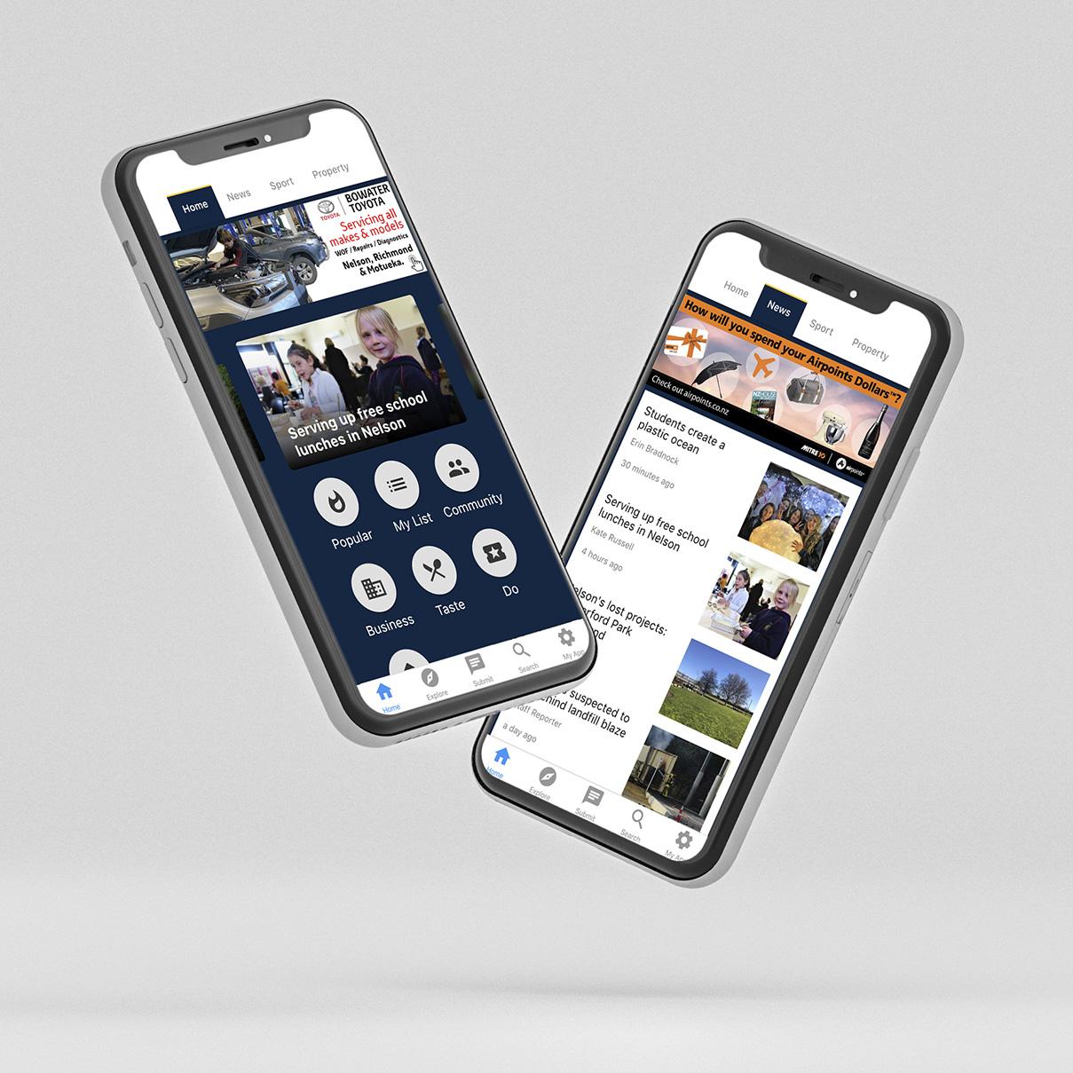 Nelson App phone mockup