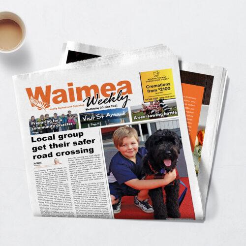 Waimea Weekly with coffee