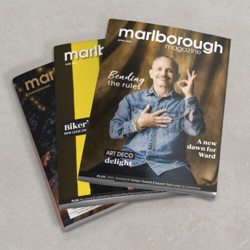 Marlborough Mag mockup for portfolio