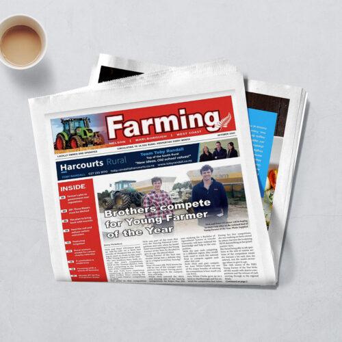 Farming News mockup